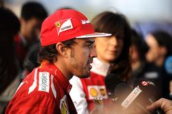 Fernando Alonso, Ferrari with the media
