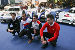 Andre Lotterer, Stéphane Sarrazin, Neel Jani and Frederic Makowiecki