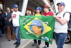 Fans von Ayrton Senna