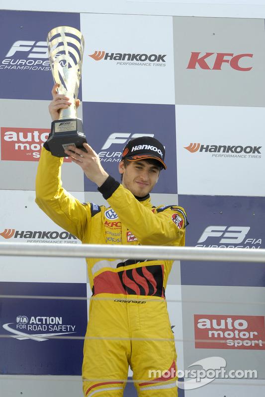 Антонио Джовинацци. Хоккенхайм, вторая воскресная гонка.