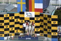 Podium, Mattias Ekstrom, Audi Sport Team Abt Sportsline, Audi RS 5 DTM, Marco Wittmann, BMW Team RMG, BMW M4 DTM, Adrien Tambay, Audi Sport Team Abt, Audi RS 5 DTM