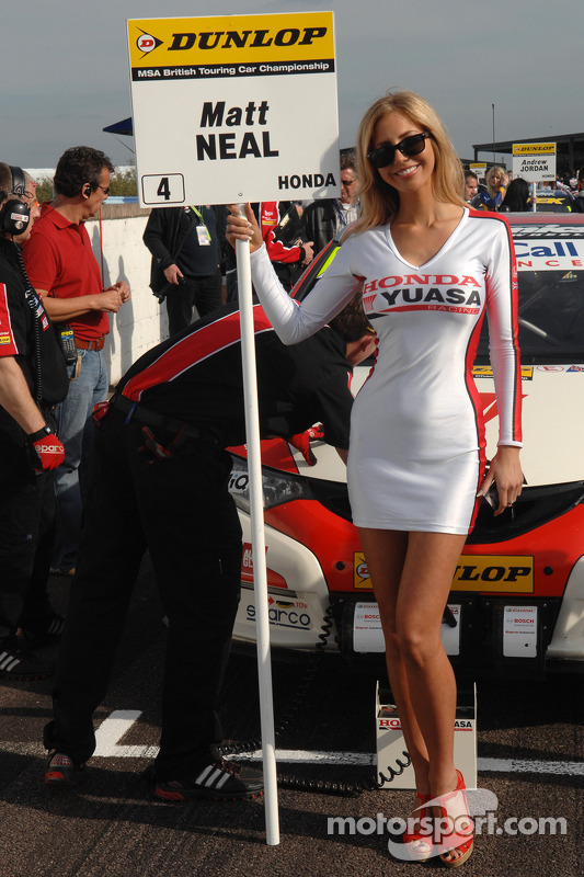 honda Yuasa Racing Grid girl at Thruxton