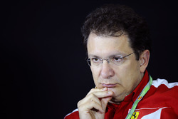Nicholas Tombazis, Ferrari Chief Designer in the Press Conference