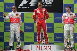 race winner Felipe Massa, Ferrari, second place Lewis Hamilton, McLaren, third place Fernando Alonso, McLaren