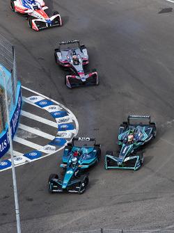 Luca Filippi, NIO Formula E Team, Nelson Piquet Jr., Jaguar Racing, Edoardo Mortara, Venturi Formula E Team & Felix Rosenqvist, Mahindra Racing