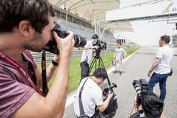 Nyck De Vries, PREMA Racing, is interviewed