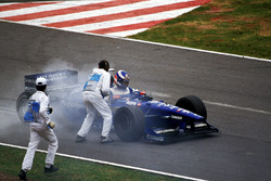 Olivier Panis, Prost AP01 stopping with a blown engine