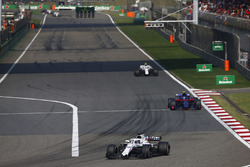 Lance Stroll, Williams FW41 Mercedes, Pierre Gasly, Toro Rosso STR13 Honda, and Sergey Sirotkin, Williams FW41 Mercedes