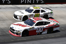Cole Custer, Stewart-Haas Racing, Ford Mustang Haas Automation and Stephen Leicht, J.P. Motorsports, Toyota Camry Jani-King