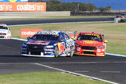 Jamie Whincup, Triple Eight Race Engineering Holden, Fabian Coulthard, DJR Team Penske Ford