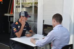 Daniel Ricciardo, Red Bull Racing and Paul di Resta, Sky TV