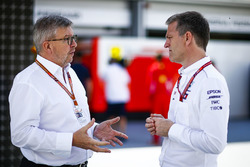 Ross Brawn, Managing Director of Motorsports, FOM, and James Allison, Technical Director, Mercedes AMG