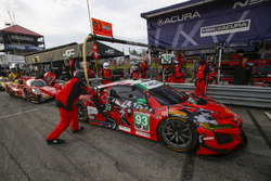 #93 Meyer Shank Racing with Curb-Agajanian Acura NSX, GTD: Lawson Aschenbach, Justin Marks, Pit Stop