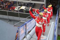 GTE, ganadores #55 Spirit of Race Ferrari F488 GTE: Duncan Cameron, Matthew Griffin, Aaron Scott