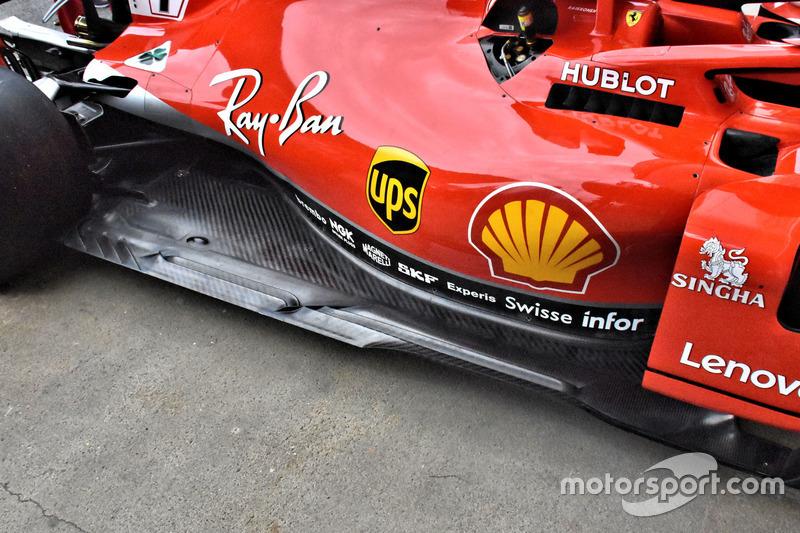 Боковой понтон Ferrari SF71H
