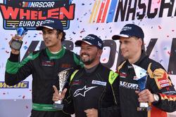 Podium: race winner Marcelo Silva, second place Advait Deodhar, third place Andreas Kuchelbacher