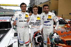 Первая тройка в квалификации: обладатель поула Лукас Ауэр, HWA Team, второе место – Филипп Энг, третье место – Бруно Спенглер, BMW Team RBM