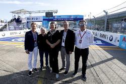 Alejandro Agag, PDG de la Formule E, avec Jean Todt, Président de la FIA, Nico Rosberg, Champion du monde de Formule 1 et investisseur en Formule E