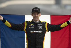 Simon Pagenaud, Team Penske Chevrolet, front row