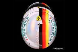 El casco especial de Sebastian Vettel, Ferrari, para el GP de Mónaco