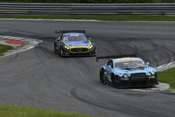 #3 K-PAX Racing Bentley Continental GT3: Rodrigo Baptista, Maxime Soulet, #80 Lone Star Racing Mercedes-AMG GT3: Mike Skeen, Scott Heckert