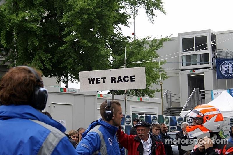A wet race is declared