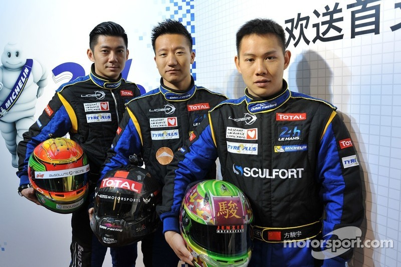 Drivers for OAK Racing Team Asia at the 24 Hours of Le Mans: Ho-Pin Tung, David Cheng and Adderly Fo