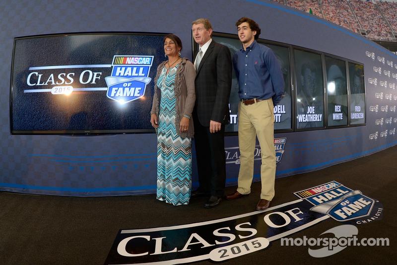 Bill Elliott ve eşi Cindy ve oğlu Chase Elliott