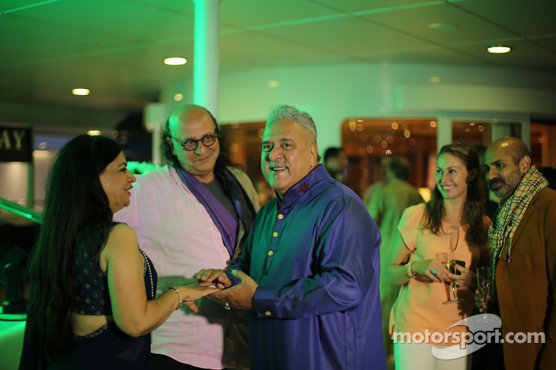 Dr. Vijay Mallya, Sahara Force India F1 Team Owner with guests at the Signature Monaco Party