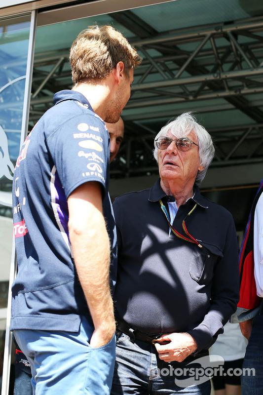 Sebastian Vettel, Red Bull Racing; Bernie Ecclestone