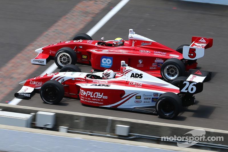 Gabby Chaves, Belardi Auto Racing e Zach Veach, Andretti Autosport