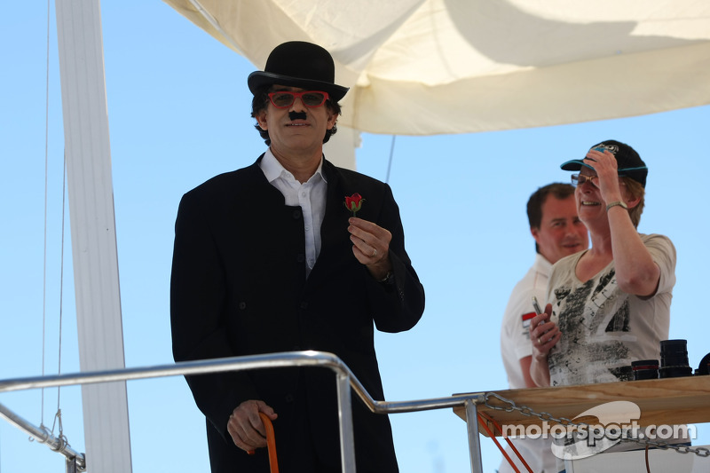 A Charlie Chaplin impersonator