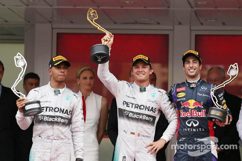2014: 1. Nico Rosberg, 2. Lewis Hamilton, 3. Daniel Ricciardo