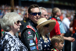Kurt Busch with his mother and girlfriend Patricia Driscoll