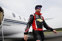 Kurt Busch arrives in Charlotte