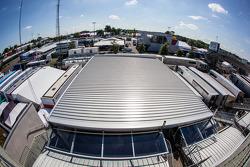 Le Mans paddock overview: Audi Sport Team Joest paddock
