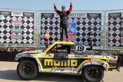 Race winner EJ Viso celebrates