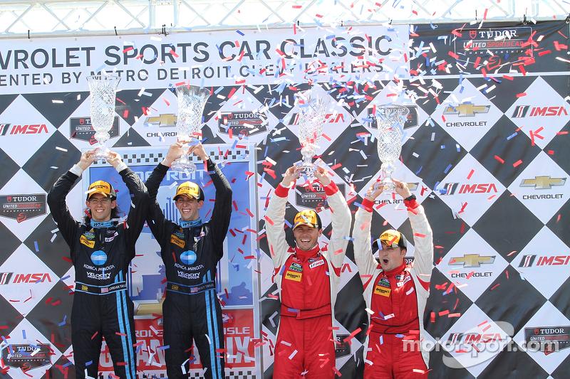 Vencedores protótipo - Ricky Taylor, Jordan Taylor  vencedores GTD - Alessandro Balzan & Jeff Westphal
