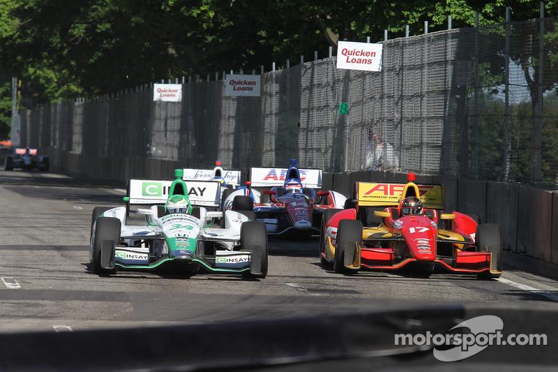 #34 Carlos Munoz, Andretti Autosport Honda Sebastian Saavedra, AFS Racing/Andretti Autosport Honda