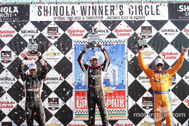 Vincitore - Helio Castroneves 2nd- Will Power 3rd - Charlie Kimball