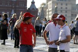Mikhail Kozlovskiy, LADA Granta 1.6T, LADA Sport Lukoil. Tiago Monteiro, Honda Civic WTCC, Castrol Honda WTCC .Gabriele Tarquini, Honda Civic WTCC, Castrol Honda WTCC Team