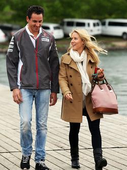 Adrian Sutil, Sauber con la fidanzata Jennifer Becks