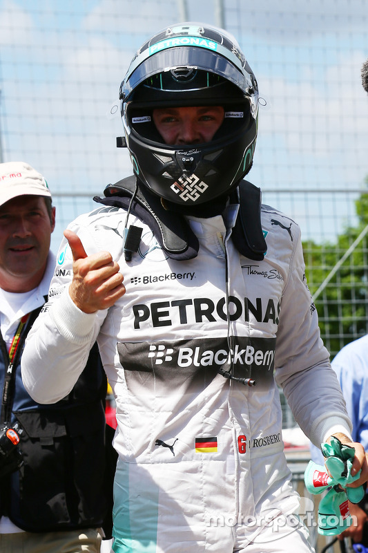 Pole para Nico Rosberg, Mercedes AMG F1