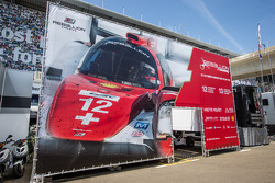 L'area Paddock del team Rebellion Racing