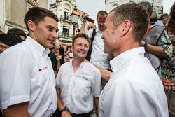 Hand imprint ceremony: 2013 24 Hours of Le Mans winners Loic Duval, Tom Kristensen and Allan McNish