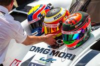 Casco di Timo Bernhard, Mark Webber, Brendon Hartley
