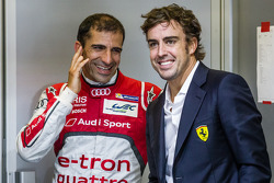 Marc Gene y Fernando Alonso en Le Mans 2014