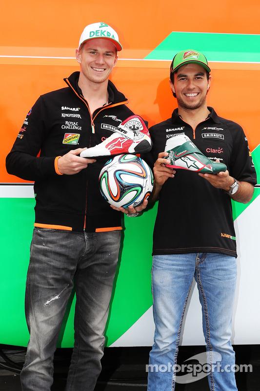 Nico Hülkenberg, Sahara Force India F1; Sergio Perez, Sahara Force India F1