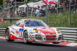 #6 Frikadelli Racing Takımı Porsche 997 GT3 R: Klaus Abbelen, Sabine Schmitz, Patrick Huisman, Patrick Pilet