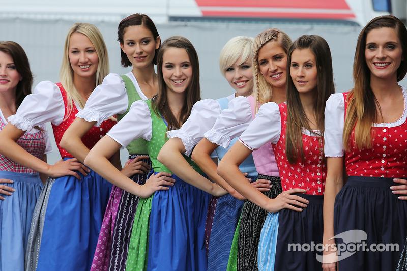 Formula Una girls at Austrian GP